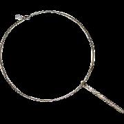 Vintage Anne Klein Collar Rhinestone Pendant  A