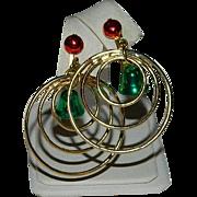 Vintage Christmas Bells Hoop Earrings