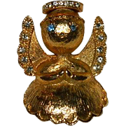 Rare Luca Razza Angel on your Shoulder Brooch