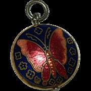 Sweet Cloisonne Enamel Butterfly Charm
