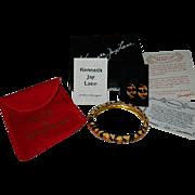 KJL Regal Tiger Animal Print Bangle & Earrings Set in Original Box w/ Paperwork