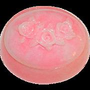Marvella's Pink Marbled Stone Jewelry Trinket Box  Vanity Box