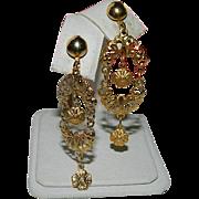 Victorian Revival Filigree Dangler Earrings