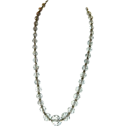 Elegant Simmons Signed Faceted Crystal Bead Necklace on 12k GF Chain