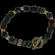 Lovely Gem Stone Sterling Silver Bracelet