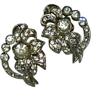 1940's Old Hollywood Glam Paste Stone Earrings