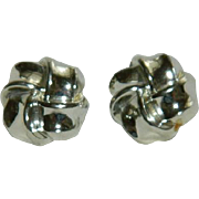 Lisner Silver Tone Knot Earrings