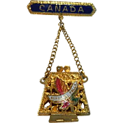 Canada Niagara Falls Filigree Purse Pin