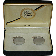 Swank Grand Prix Silver Filigree Cufflinks in Original Box