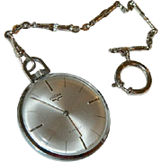 Rare! Vulcain 17 Jewel Swiss Made Pocket Watch on Watch Chain