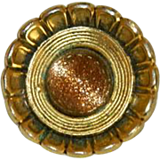 Freirich Signed Gold Stone Brooch Pin