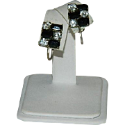 Interesting English ~ German Rhinestone Earrings