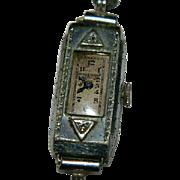 Old Westfield Ladies Watch ~ Old Mine Cut Diamonds ~ For Repair, Restore, Parts Non Running