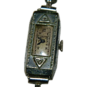 Old Westfield Ladies Watch ~ Old Mine Cut Diamonds ~ For Repair, Restore, Parts Non Running