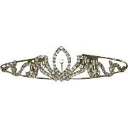 Delicate Bridal Tiara ~ Silver Tone Clear Stones