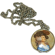Smashing Transfer Cameo Locket ~ Elegant Lady