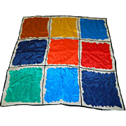 """Early 60""""s Color Blocking Scarf"""