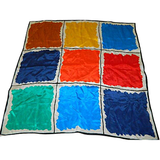 "Early 60""s Color Blocking Scarf"