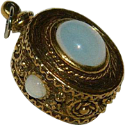 Etruscan Revival Opaline Watch Fob