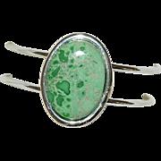 Utah Variscite Hand Made Sterling Silver Cuff Bracelet