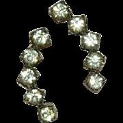 Early Edwardian Period Paste Stone Earrings in Sterling Silver