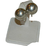 Sterling Dome Earrings ~ Screw Back