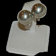 Sterling Dome Earrings ~ Screw Back