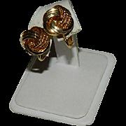 Napier Gold Tone Eternity Knot Earrings