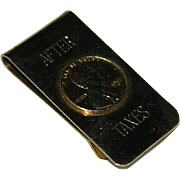 "Money Clip ""After Taxes"" with a Penny Coin - Red Tag Sale Item"
