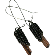 Interesting Robert Rose Faux Crystal Earrings