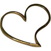 14K Yellow Gold Open Worked Heart Pendant