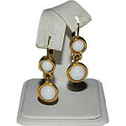 Fab Napier Summer White Lever Back Earrings