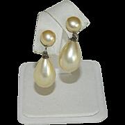 Elegant Sterling Silver Faux Pearl Drop Earrings