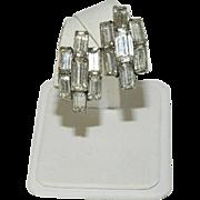 Old Hollywood Glam! Huge Baguette Rhinestone Earrings