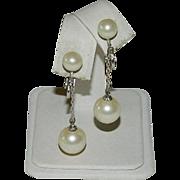 Romantic Marvella Designer Faux Pearl Dangler Earrings