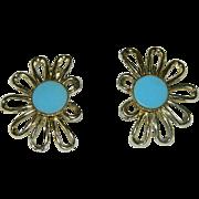 Mod 1960's Flower Power Earrings