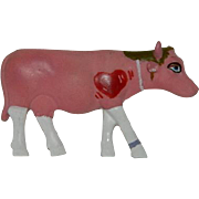 Cow Parade Pink Big Hearted Cow Brooch