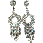 Stunning Vintage Rhinestone Bridal Earrings