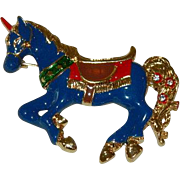 Stunning Enamel Carousel Horse ~ Carnival Horse