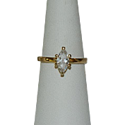 Gorgeous Marquis Engagement Style Ring Sz 8