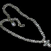 Stunning Rhinestone Crystal Cross Necklace