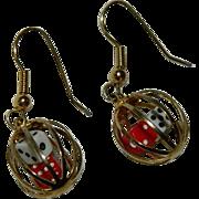 Fun Caged Dice Earrings