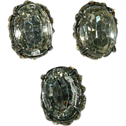 Set of 3 Vintage Huge Rhinestone Buttons