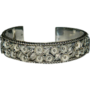 Treasure from the Navajo Sterling Silver Flower Explosion Cuff Bracelet