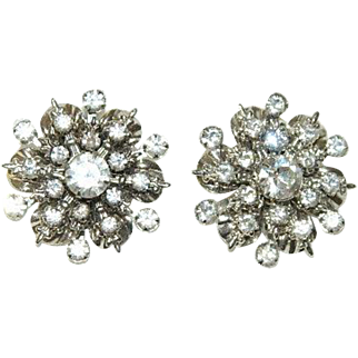 Sparkling Clear Rhinestone Statement Earrings