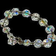 Sparkling AB Crystal Chain Link Bracelet ~ 8.25'
