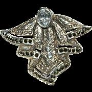My Favorite Angel Ever! Sterling Rock Crystal Brooch