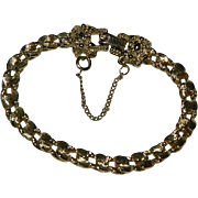 Goldette Gold Nugget Tennis Bracelet with Safety Catch