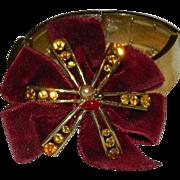 One of a Kind Velvet Rhinestone Expansion Bracelet