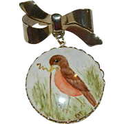 Early Bird Hand Painted Sweethearts Brooch
